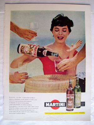 Antigua Hoja Publicidad Revista - Advertising Magazine Old Sheet : MARTINI. Año 1959