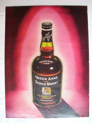 Antigua Hoja Publicidad Revista - Advertising Magazine Old Sheet : QUEEN ANNE Rare Scotch Whisky....