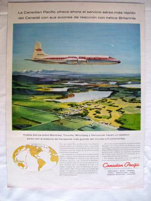 Antigua Hoja Publicidad Revista - Advertising Magazine Old Sheet : CANADIAN PACIFIC. Año 1959