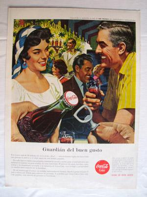 Antigua Hoja Publicidad Revista - Advertising Magazine Old Sheet : COCA COLA. Año 1959