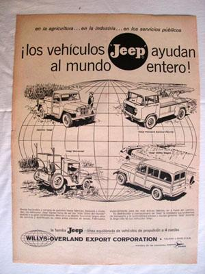 Antigua Hoja Publicidad Revista - Advertising Magazine Old Sheet : VEHÍCULOS JEEP. Año 1959