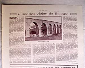 Antigua Hoja Revista - Old Magazine Sheet : ACUEDUCTO DE OVIEDO. Año 1914
