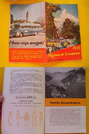 Folleto Turismo - Tourist Brochure : PROGRAMA DE EXCURSIONES 1959