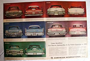Antigua Hoja Publicidad Revista - Advertising Magazine Old Sheet : PLYMOUTH, DODGE, DE SOTO, IMPE...