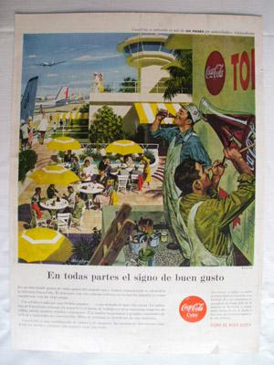 Antigua Hoja Publicidad Revista - Advertising Magazine Old Sheet : COCA - COLA. Año 1959