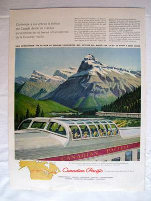 Antigua Hoja Publicidad Revista - Advertising Magazine Old Sheet : TREN CANADIAN PACIFIC. Año 1959
