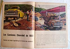 Antigua Hoja Publicidad Revista - Advertising Magazine Old Sheet : CAMIONES CHEVROLET, GENERALS M...