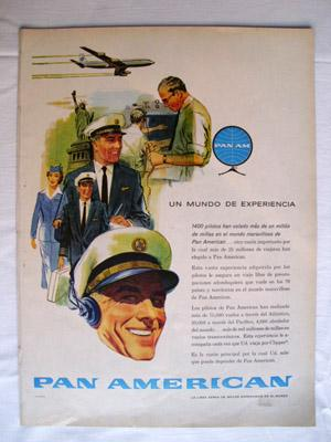Antigua Hoja Publicidad Revista - Advertising Magazine Old Sheet : PAN AMERICAN, Linea aérea. Año...