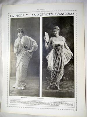 Hugelmann Foto Antigua Hoja Revista Old Magazine Sheet Monna Delza