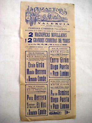 Poster : PLAZA DE TOROS DE VALENCIA: DIPUTACIÓN (empresa)
