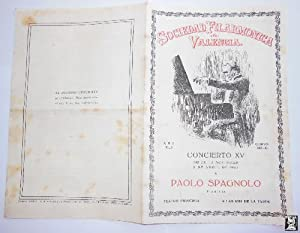 Antiguo Programa - Old Program : Concierto XV, 1951. PAOLO SPAGNOLO (pianista)