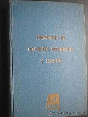 FORMULARIO DE CONTRATOS, DOCUMENTOS Y ESCRITOS