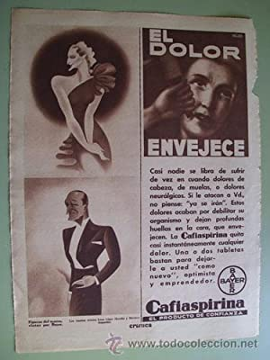 Antigua Hoja Publicidad - Old Sheet of Advertising : IRENE LÓPEZ HEREDIA Y MARIANO ASQUERINO