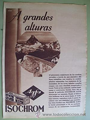 Antigua Hoja Publicidad - Old Sheet of Advertising : AGFA ISOCHROM