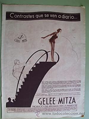 Antigua Hoja Publicidad - Old Sheet of Advertising : GELÉE - MITZA