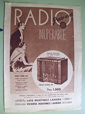 Hoja Publicidad - Sheet of Advertising : RADIO PUNTO AZUL