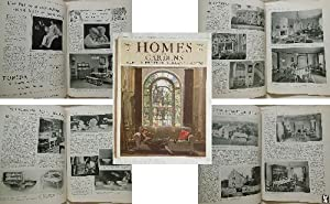 HOMES AND GARDENS. Houses, Furniture and Equipment, Gardens. No 9, Vol 6, February 1925.