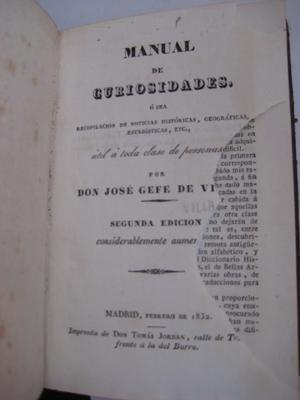MANUAL DE CURIOSIDADES: GEFE DE VILLA, José