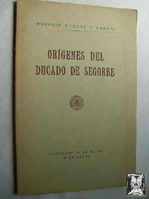 ORÍGENES DEL DUCADO DE SEGORBE: GARCÍA Y GARCÍA, Honorio