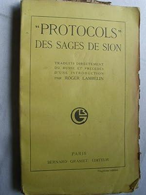 PROTOCOLS DES SAGES DE SION: Sin autor