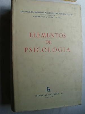 ELEMENTOS DE PSICOLOGÍA: KRECH, David/ CRUTCHFIELD,