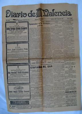 DIARIO DE VALENCIA. Año XVII, Num 5358 - 18 Marzo 1927: Sin autor