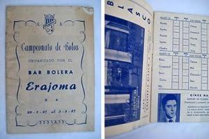 CAMPEONATO DE BOLOS organizado por el Bar Bolera Erajoma.: Sin autor