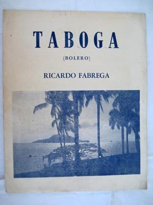 Partitura - Score : TABOGA (Bolero): FABREGA Ricardo