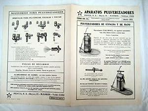 Catálogo núm 351. APARATOS PULVERIZADORES PENTA S.A.: PENTA S.A.