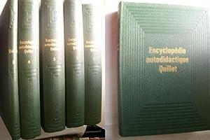 ENCYCLOPÉDIE AUTODIDACTIQUE QUILLET (5 volúmenes): Sin autor