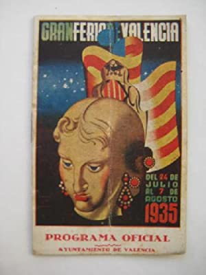 Programa Oficial - Old Program: GRAN FERIA DE VALENCIA 1935: AYUNTAMIENTO