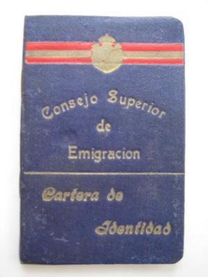 CARTERA DE IDENTIDAD: CONSEJO SUPERIOR DE EMIGRACIÓN