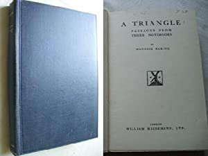 A TRIANGLE. Passages from three notebooks