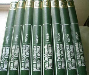 GRAN ENCICLOPEDIA DE PUNTO Y COSTURA. GANCHILLO, BORDADO Y TRABAJOS MANUALES (8 volúmenes): ...