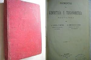 ELEMENTOS DE GEOMETRÍA Y TRIGONOMETRÍA: CATENA, A y GIMÉNEZ DE CASTRO, E.