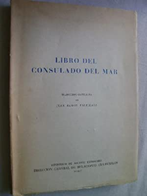 LIBRO DEL CONSULADO DEL MAR: AAVV