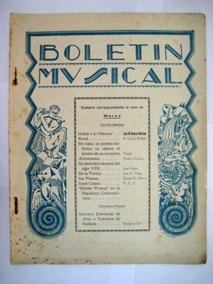 BOLETÍN MUSICAL. Nº 36 Marzo 1931: SERRANO Rafael (Director)