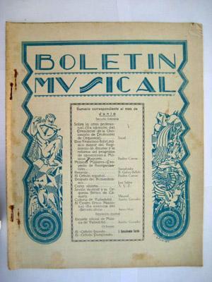 BOLETÍN MUSICAL. N 27 Junio 1930: SERRANO Rafael (Director)