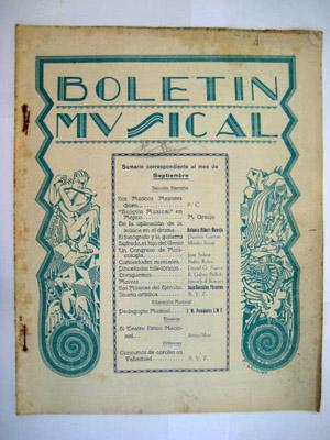 BOLETÍN MUSICAL. Nº 30 Septiembre 1930: SERRANO Rafael (Director)