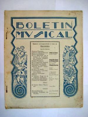 BOLETÍN MUSICAL. N 32 Noviembre 1930: SERRANO Rafael (Director)