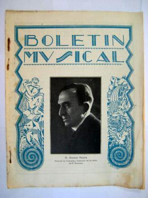 BOLETÍN MUSICAL. Nº 17 Julio 1929: SERRANO Rafael (Director)