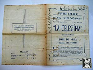 Folleto publicidad - Advertising brochure : LA CELESTINA. Compañía Lope de Vega, Jos&...
