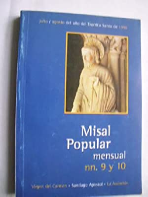 MISAL POPULAR MENSUAL. NN. 9 Y 10: MARTINEZ CARAZO, Ricardo