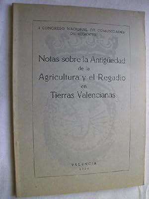 NOTAS SOBRE LA ANTIGÜEDAD DE LA AGRICULTURA Y EL REGADÍO EN TIERRAS VALENCIANAS: Sin ...