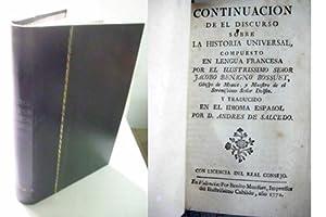 CONTINUACION DE EL DISCURSO SOBRE HISTORIA UNIVERSAL: BOUSSET, Jacobo Benigno
