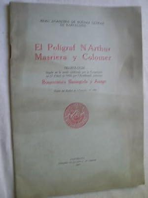 EL POLÍGRAF N ARTHUR MASRIERA Y COLOMER. Necrologica: BASSEGODA Y AMIGÓ Bonaventura
