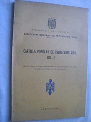 CARTILLA POPULAR DE PROTECCIÓN CIVIL DG-1