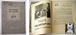 RECETARIO DE COCINA COLMADOS SIMÓ. N 8 Febrero 1942: SIMO Colmados