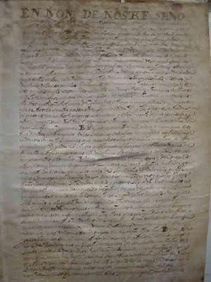 DOCUMENTO Original : Escritura Pública Benimaclet 1653 Testamento y últimas ...