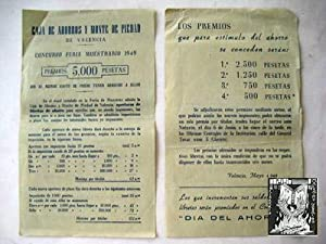 Folleto Publicidad - Advertising Brochure : CONCURSO FERIA MUESTRARIO 1949
